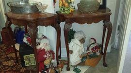antique half-moon tables