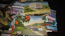 Vintage lithograph art deco post cards & hotel motel post cards