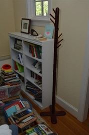 coat rack, bookcase