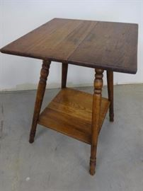 Antique Tall Accent Table TLC