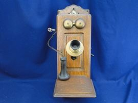 Antique Oak Telephone