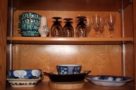 Glassware, and Assorted Serving Pieces