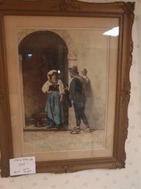 Italian Watercolor, Enrico Tarenghi