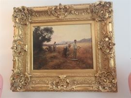 Harvest Painting, by Ernest Chateignon, French/Russian circa 1908-1917