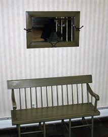 Bench & Mirror