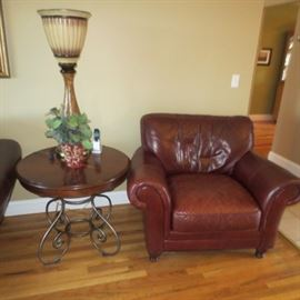 Macy's Leather Love seat & Chair