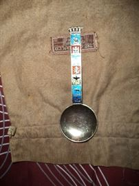 J. Tostrup Norway Sterling & Enamel Spoon