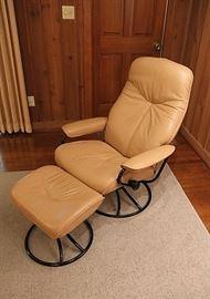 "Ekornes ""Stressless"" chair with ottoman"