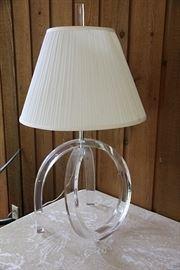 fun vintage Lucite lamp