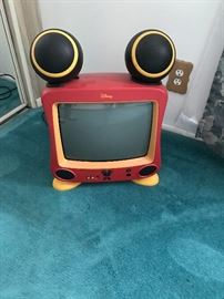 Disney Mickey Mouse TV with ear speakers.