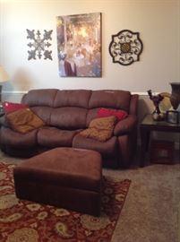 Sleeper sofa w/ottoman