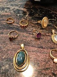 10k, 14k, 18k emerald ring etc. jewelry