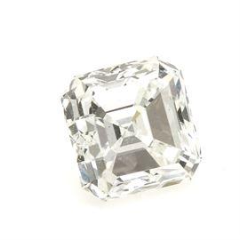 Loose 1.54 CTS Asscher Cut Corner Square Step Cut Diamond: A loose 1.54 cts asscher cut corner square step cut diamond.