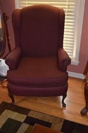 Pair of Wing Back Chair with Queen Anne legs