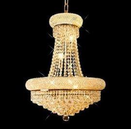 Elegant Foyer Pendant, gold plated chandelier $900.