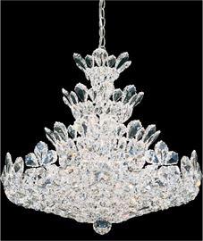 "Schonbek Trilliane 24-light 24""wide chandelier. $4000."