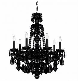 Schonbeck Jet black crystal chandelier. $3400.