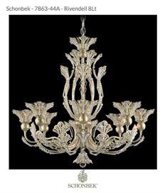 Schonbeck Rivendell crystal chandelier. $2300.