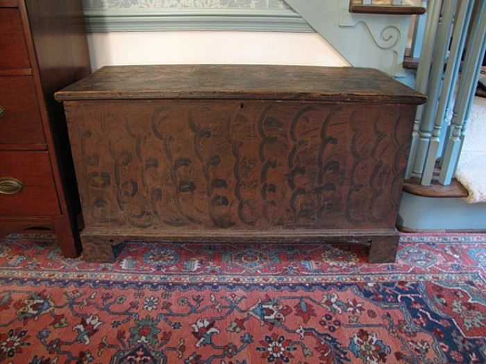 Paint decorated blanket chest, Iredell/Catawba County, circa 1820