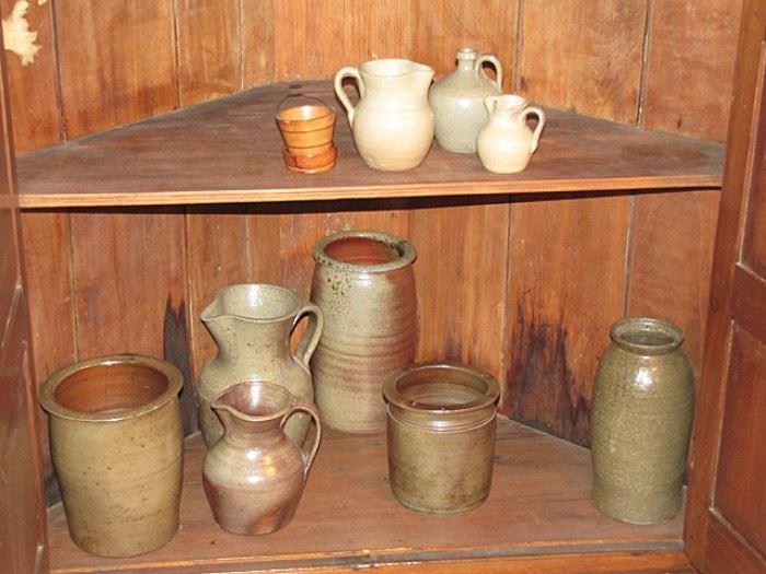 North Carolina salt glazed pottery