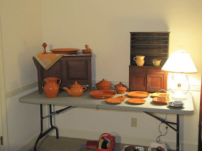 Storage chest, Jugtown, miniature cupboard