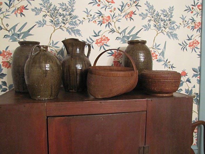 Catawba Valley alkaline glaze pottery