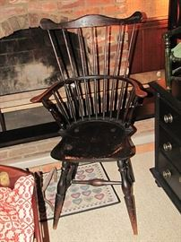 Windsor arm chair in black paint