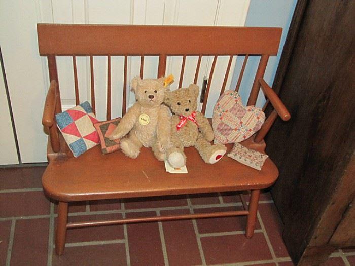 Child's Windsor bench