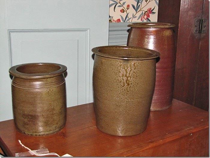 Salt glazed North Carolina pottery