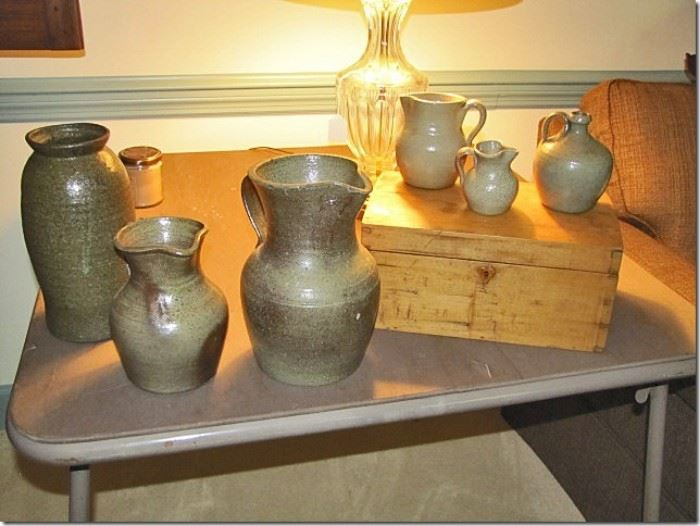 Salt glazed pottery