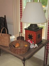 Lamps and baskets