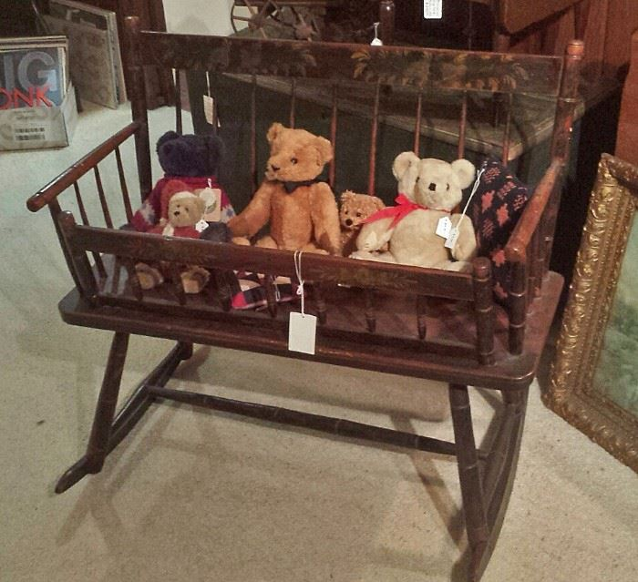 Decorated mammy's bench