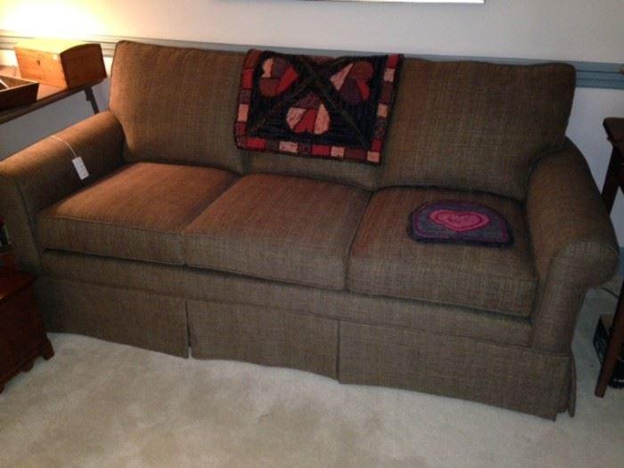 Dark brown tweed Lawson style sofa