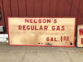 Early Gas Station Advertising Sign