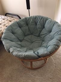 Papasan Bamboo Chair with pillow