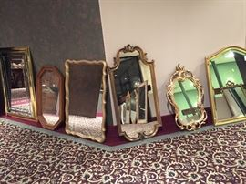 Mirrors ready to hang