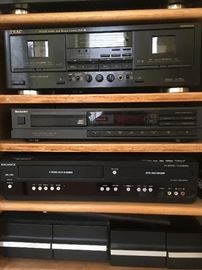 electronics Magnavox DVD Recorder with VCR and Technics Compact Disc player