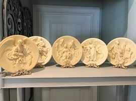 Italian Alabaster Nativity plates