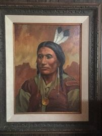 Black Hawk Kiowa Indian by Roger Piercy  19 x 24