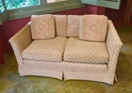 Bargello covered loveseat