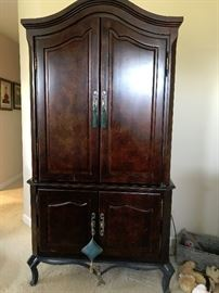 Walnut and iron Armoire from Kessler bedroom set