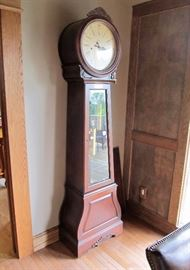 "Beautiful Howard Miller model 610-900 La Rochelle III grandfather clock, with Kieninger cable-driven movement, 84"" h x 23"" w x 14"" d."
