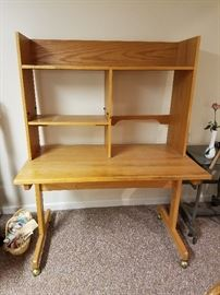 Office desk with hutch - $45