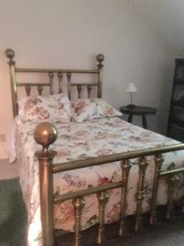 Full size antique brass bed