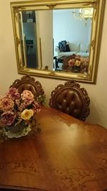 Very Large Gilded wall mirror