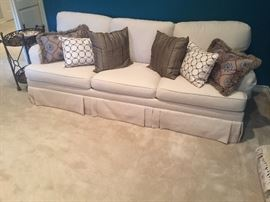 White linen Queen size sofa bed in excellent condition