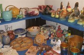 Royal Copley pieces, vintage smalls, Hall teapot