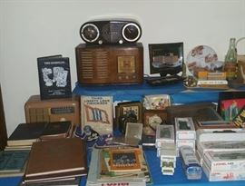 "Vintage radios including Zenith ""Owl"", curvy Sonora wood tabletop model, and Hallicrafters Continental"
