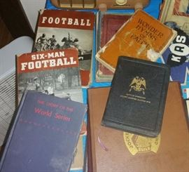 Old football books, hymnals