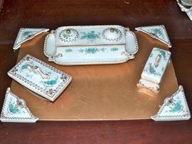 Porcelain desk set